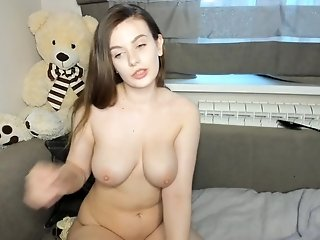 Amateur teen couple likes to play on webcam