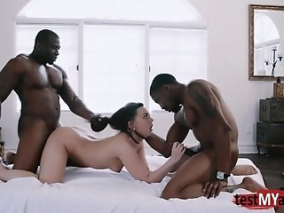Horny porn star double penetration and cumshot