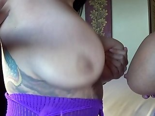 Big Tit Lesbians Sucking Knockers And A Toy