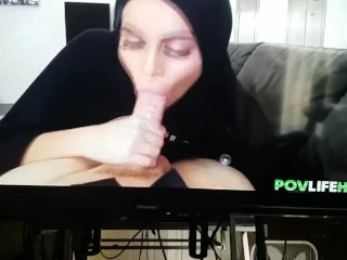Arab Hottie with Huge Tits makes Me Cum Deep Inside