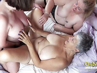OldNannY Three Mommies using Toys on Sexclinic